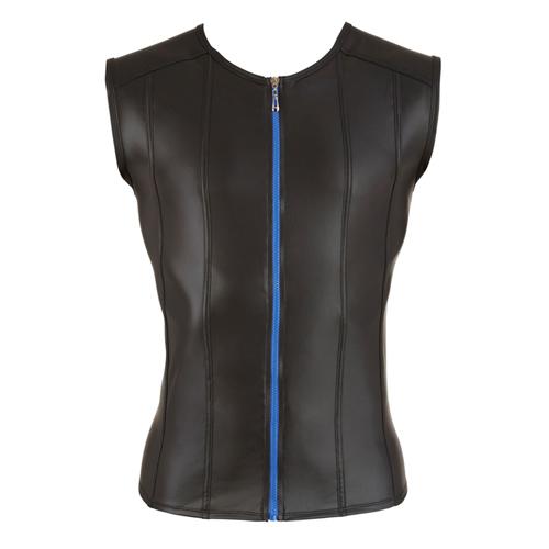 Shirt Met Lederlook En Lange Rits – Zwart Aanbieding! van € 39.95 Voor slechts € 22.95!