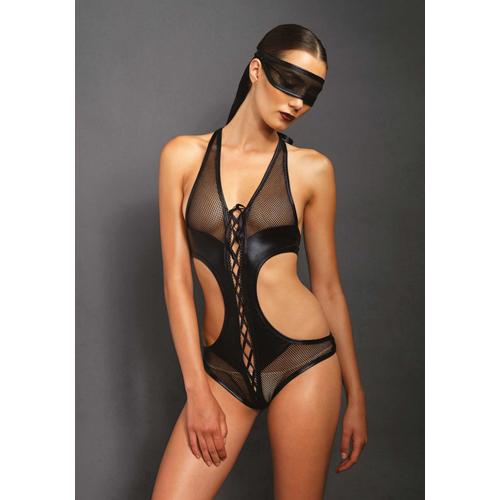 Body met open kruis en bijpassend oogmasker – Zwart Aanbieding! van € 42.95 Voor slechts € 36.22!